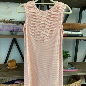Chanel Striped Scallop Detail Dress